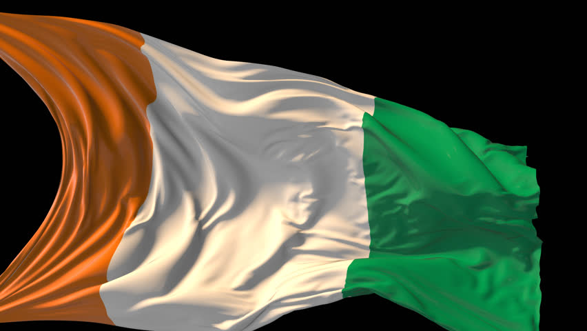flag of ivory coast beautiful 3d animation revealing ivory coast flag with alpha channel stock footage video 9661691 shutterstock