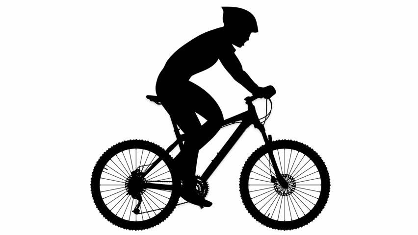 mountain bike riding alpha channel silhouette stock footage video 9686981 shutterstock