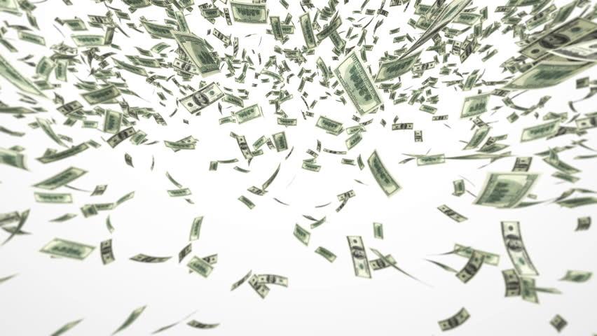 One hundred dollar bills falling through air. Loop | Shutterstock HD Video #968731