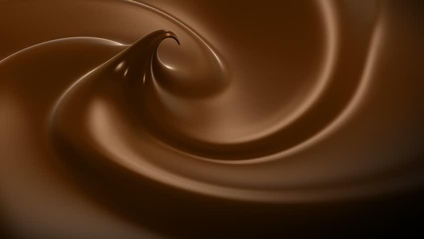 Wavy Chocolate Close-up Looped Animation. HD 1080.