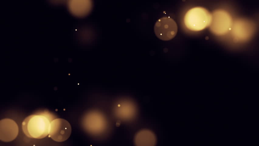 Beautiful Particle Background.  Blurry fairy light or candle light background with small particles floating around, seamless loop.