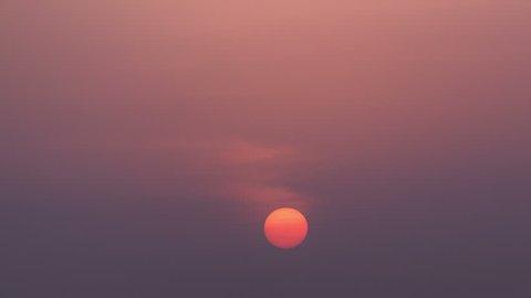 Sunrise in Dubai from helicopter pad of Burj al Arab timelapse 4K