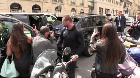 Paris, France - May 18,2014: Scott Disick at Kim Kardashian and Kanye West Paris Sightings
