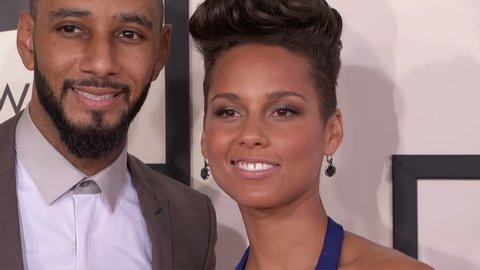 Los Angeles, CA - January 26,2014: Alicia Keys and Swizz Beatz at Grammy Awards 2014, Staples Center