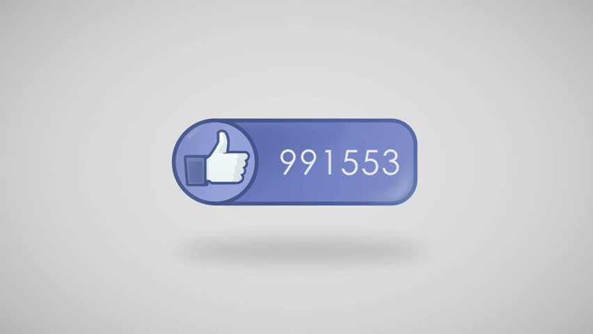 Animation of Social Network Counter. Icon at grey background displays thumbs up and number of votes that is rapidly changing. | Shutterstock HD Video #9815171