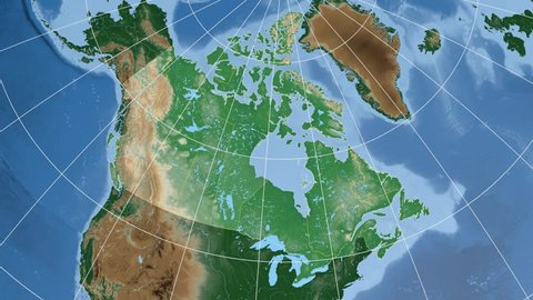 Saskatchewan Province Extruded On the Stock Footage Video (100 ...