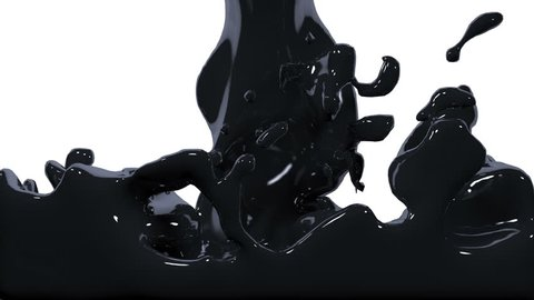 paint fills up screen. Flowing Liquid. Pouring  screen. Isolated on white background.