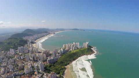 Aerial view of the Brazilian Coastline