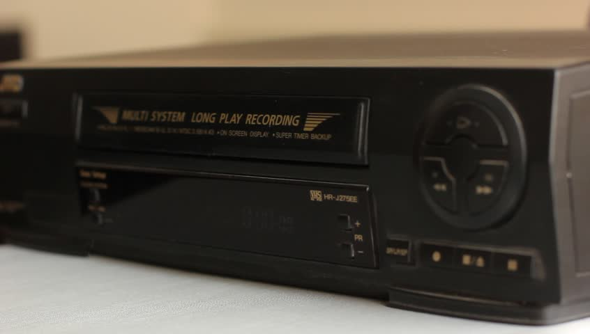 Ejecting The Video Cassette From Stock Footage 100 Royalty