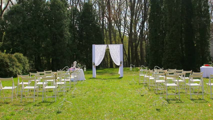 Stock video of wedding set up in garden park 9915587 shutterstock visually similar footage junglespirit Gallery