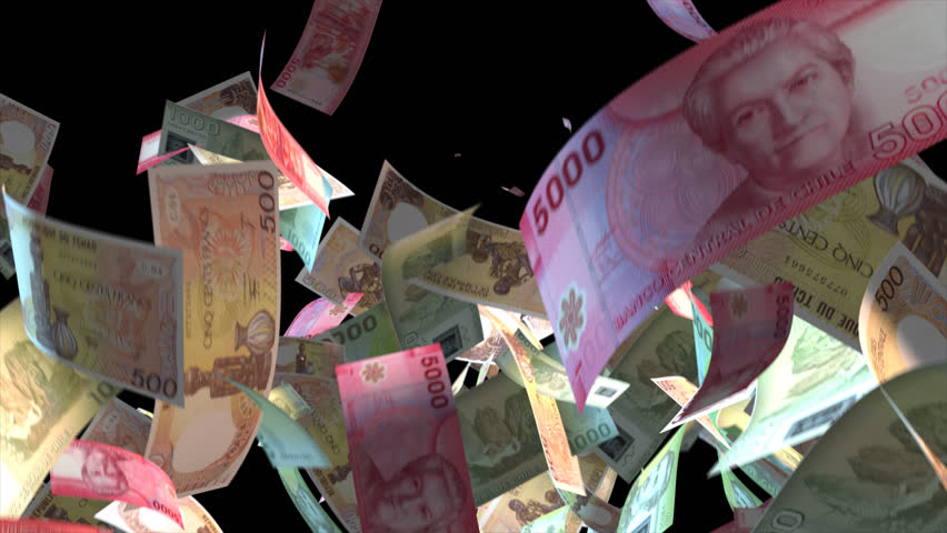 Falling Chad money banknotes Video Effect simulates Falling Mixed Chad Money banknotes with alpha channel (transparent background) in 4k resolution  | Shutterstock HD Video #9922121