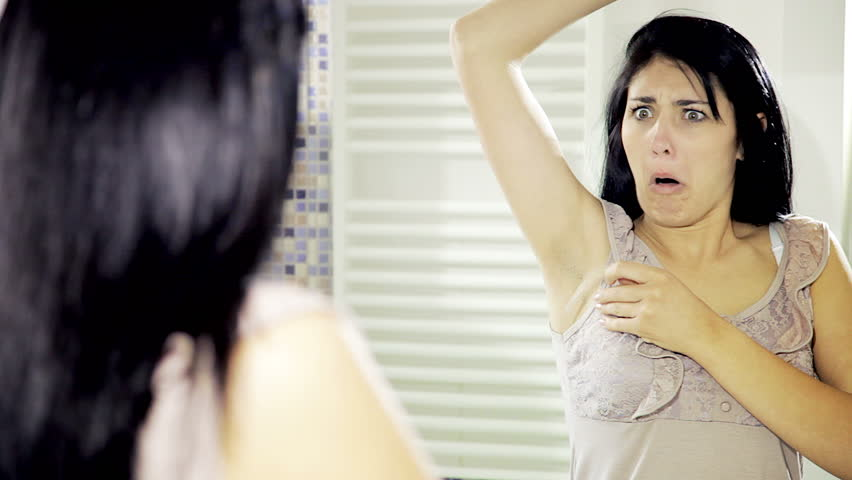 funny woman who turns out to have many hairy armpits